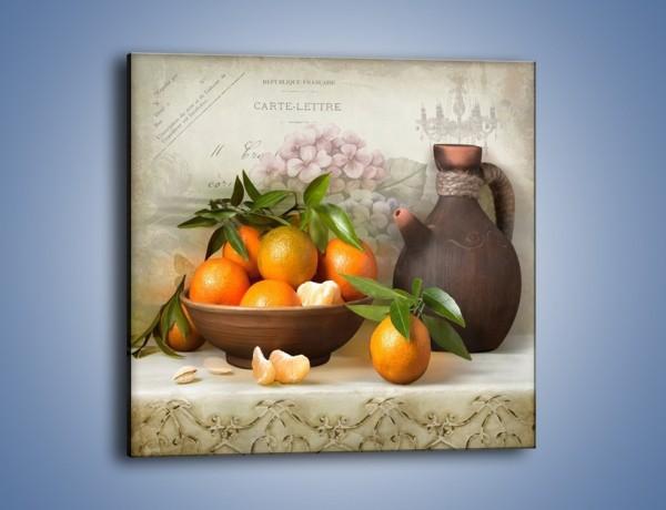 Obraz na płótnie – Dojrzałe pomarańcze na stole – jednoczęściowy kwadratowy JN571