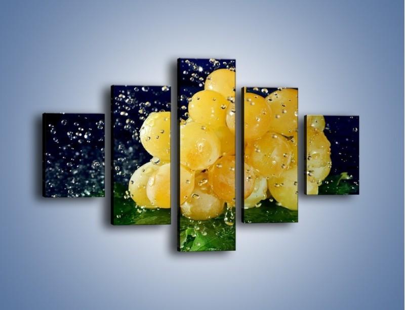 Obraz na płótnie – Słodkie winogrona z miętą – pięcioczęściowy JN286W1