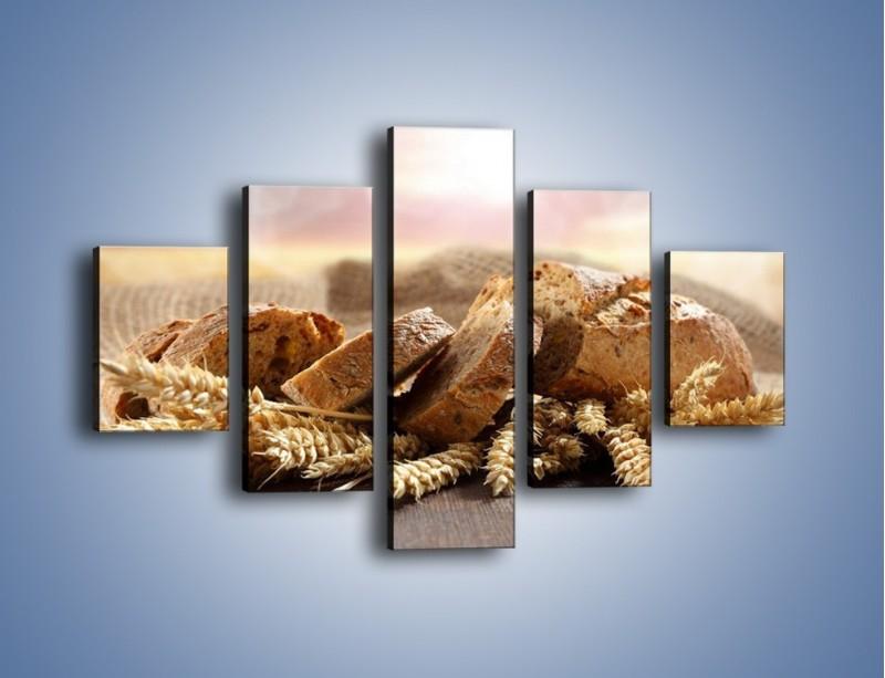 Obraz na płótnie – Świeży pszenny chleb – pięcioczęściowy JN287W1