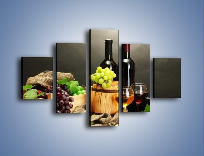 Obraz na płótnie – Wytrawne smaki wina – pięcioczęściowy JN289W1