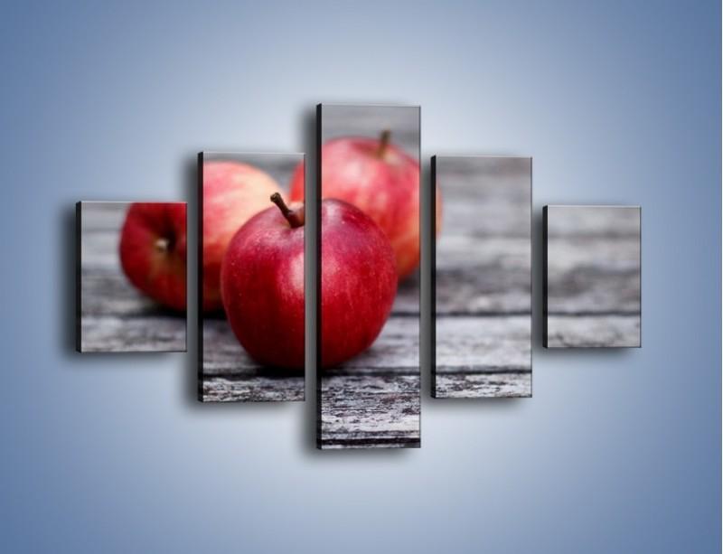 Obraz na płótnie – Jabłkowe zdrowie – pięcioczęściowy JN296W1