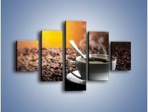 Obraz na płótnie – Aromatyczna filiżanka kawy – pięcioczęściowy JN298W1