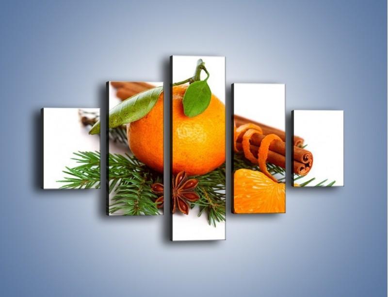 Obraz na płótnie – Pomarańcza na święta – pięcioczęściowy JN306W1