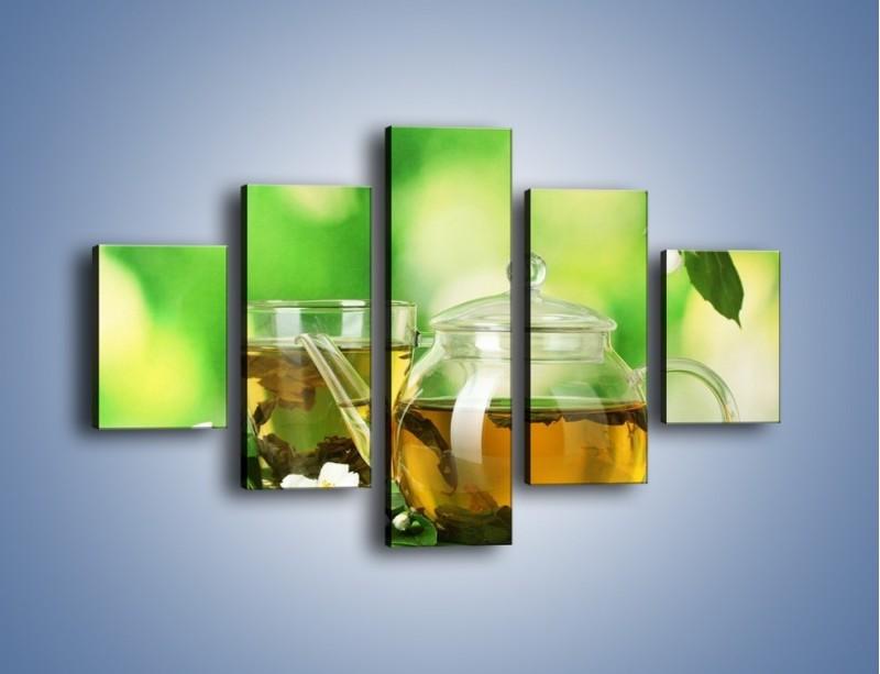 Obraz na płótnie – Herbaciane ukojenie – pięcioczęściowy JN316W1