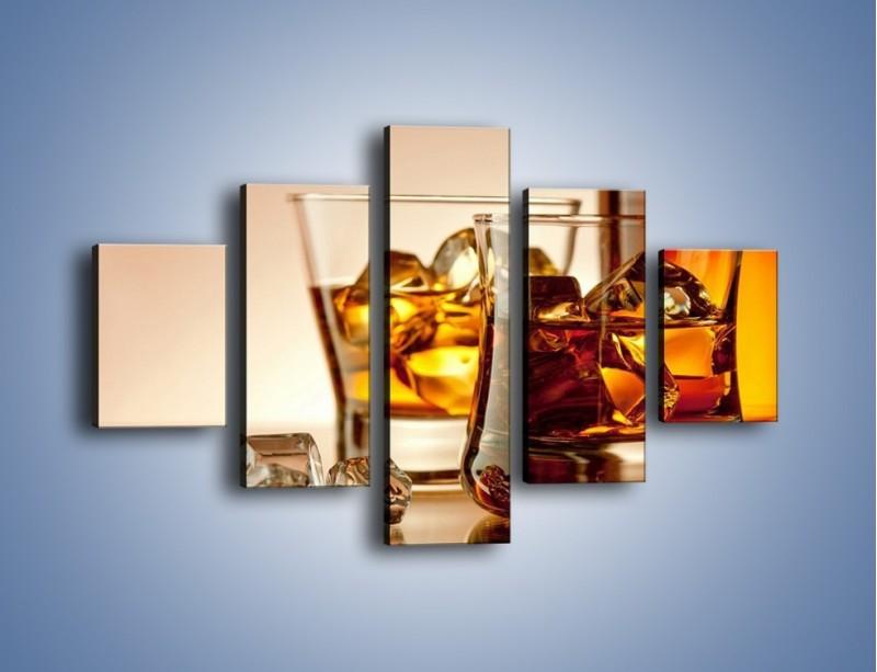 Obraz na płótnie – Męskie rozmowy przy whisky – pięcioczęściowy JN318W1
