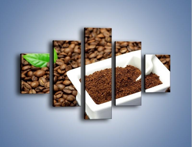 Obraz na płótnie – Zmielona kawa – pięcioczęściowy JN340W1