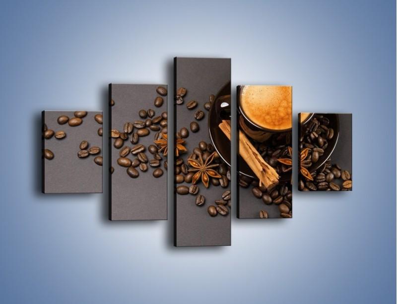 Obraz na płótnie – Kawa z goździkiem – pięcioczęściowy JN349W1