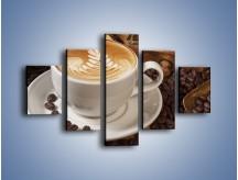 Obraz na płótnie – Czas na kawę – pięcioczęściowy JN353W1