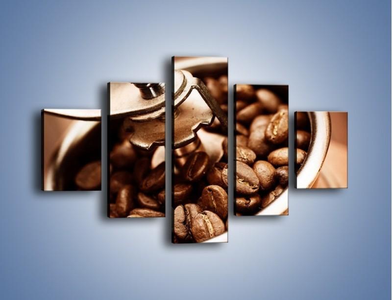 Obraz na płótnie – Kawa w młynku – pięcioczęściowy JN361W1