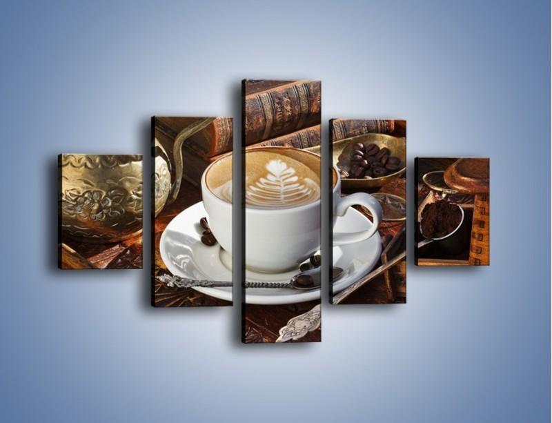 Obraz na płótnie – Wspomnienie przy kawie – pięcioczęściowy JN377W1