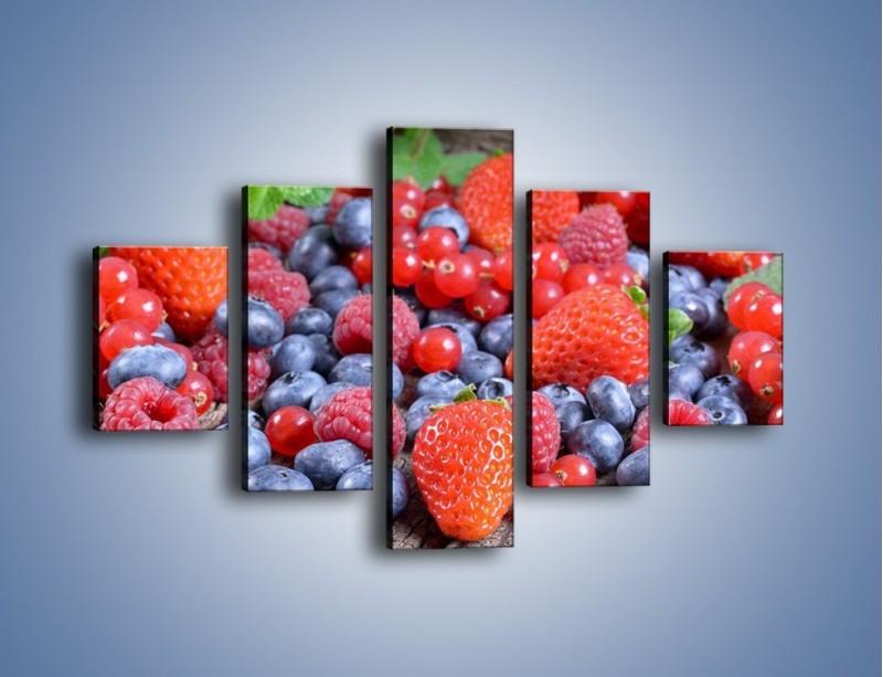 Obraz na płótnie – Owoce z działki – pięcioczęściowy JN422W1
