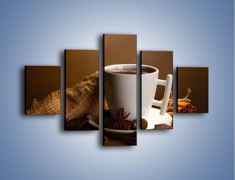 Obraz na płótnie – Gorąca czekolada z dodatkami – pięcioczęściowy JN452W1