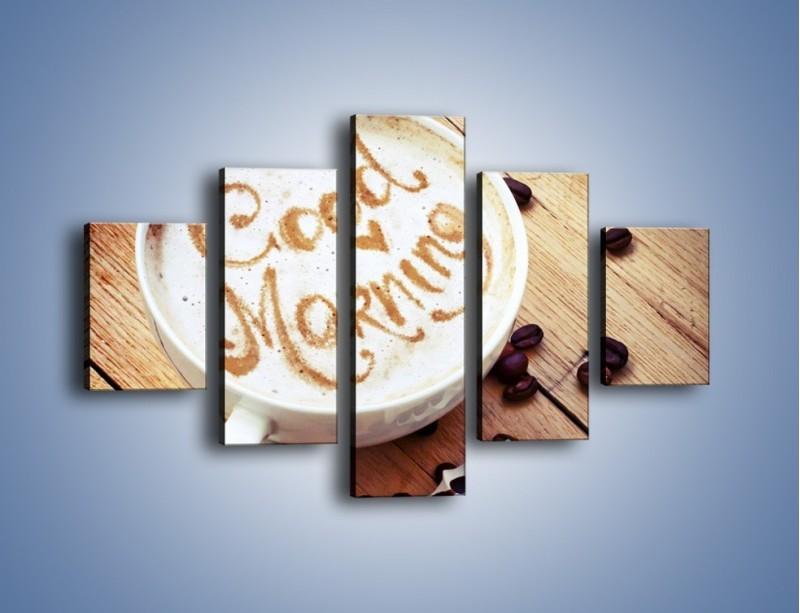 Obraz na płótnie – Kawa z bezą – pięcioczęściowy JN605W1