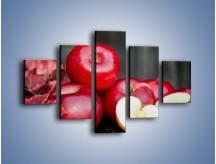Obraz na płótnie – Czerwone jabłka późną jesienią – pięcioczęściowy JN619W1