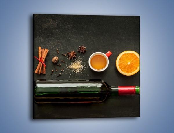 Obraz na płótnie – Wino kawa i nie tylko – jednoczęściowy kwadratowy JN583