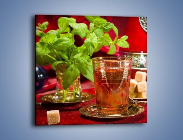 Obraz na płótnie – Herbata z dużą porcją cukru – jednoczęściowy kwadratowy JN586