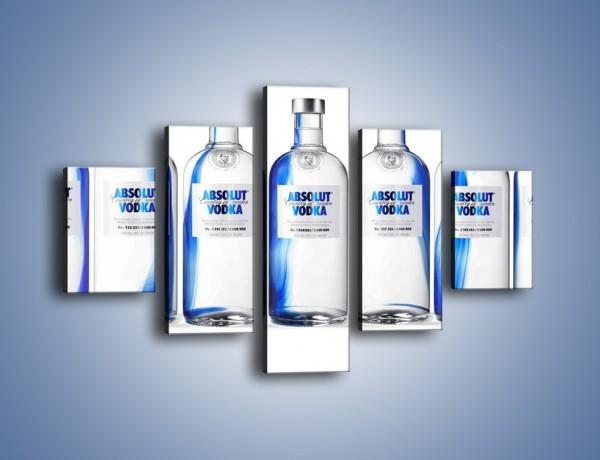 Obraz na płótnie – Czysta wódka w butelkach – pięcioczęściowy JN748W1