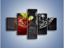 Obraz na płótnie – Czerwony drink z selerem – pięcioczęściowy JN751W1