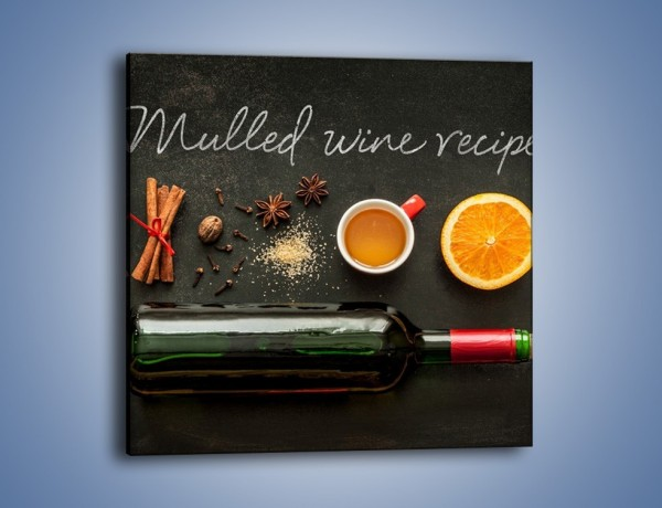 Obraz na płótnie – Recepta na idealne wino – jednoczęściowy kwadratowy JN588