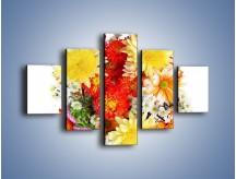 Obraz na płótnie – Bukiecik kwiatów z ogródka – pięcioczęściowy K118W1