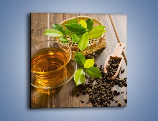 Obraz na płótnie – Herbata mięta i nie tylko – jednoczęściowy kwadratowy JN592
