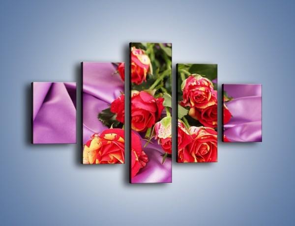 Obraz na płótnie – Błogi odpoczynek z różą – pięcioczęściowy K251W1