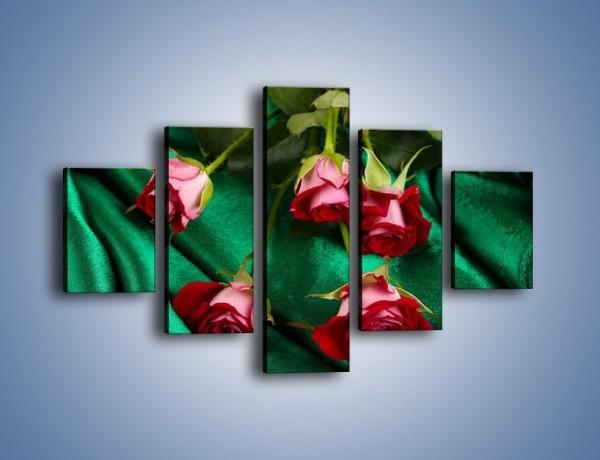 Obraz na płótnie – Krok w stronę róży – pięcioczęściowy K269W1