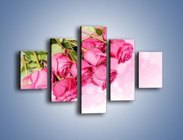 Obraz na płótnie – Róże do góry nogami – pięcioczęściowy K270W1