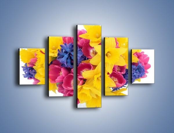 Obraz na płótnie – Kolorowy wazon – pięcioczęściowy K277W1