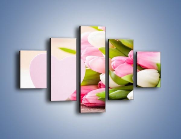 Obraz na płótnie – Miłość do tulipanów – pięcioczęściowy K292W1