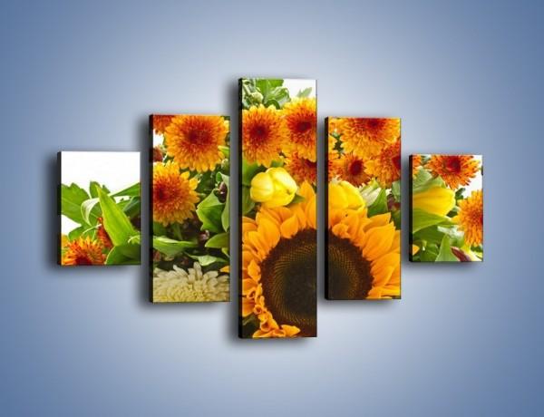 Obraz na płótnie – Łąka bukiet słoneczniki – pięcioczęściowy K311W1