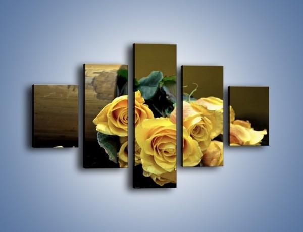 Obraz na płótnie – Zapomniane róże – pięcioczęściowy K334W1