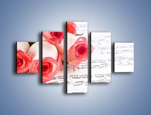Obraz na płótnie – Najpiękniejsze melodie wśród róż – pięcioczęściowy K377W1