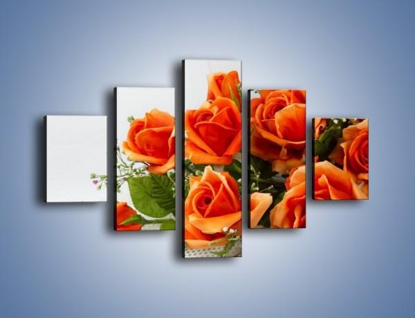 Obraz na płótnie – Róża pełna nadziei – pięcioczęściowy K399W1
