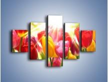 Obraz na płótnie – Bajecznie słoneczne tulipany – pięcioczęściowy K428W1