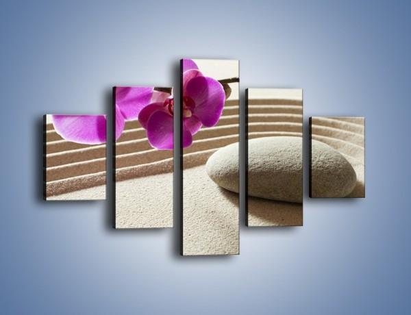 Obraz na płótnie – Kwiat i pustynia – pięcioczęściowy K434W1