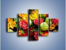 Obraz na płótnie – Bukiet pełen soczystych kolorów – pięcioczęściowy K461W1