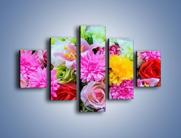 Obraz na płótnie – Wszystkie kwiaty lata – pięcioczęściowy K464W1