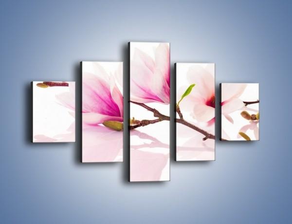 Obraz na płótnie – Lekkość w kwiatach wiśni – pięcioczęściowy K485W1