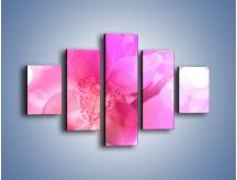 Obraz na płótnie – Budzący dzień w różowym kwiecie – pięcioczęściowy K487W1