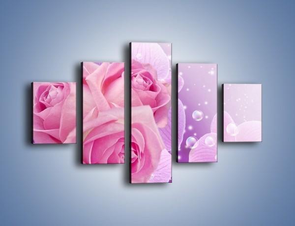 Obraz na płótnie – Kwiaty dla księżniczki – pięcioczęściowy K498W1