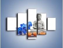Obraz na płótnie – Budda i kwiat – pięcioczęściowy K593W1