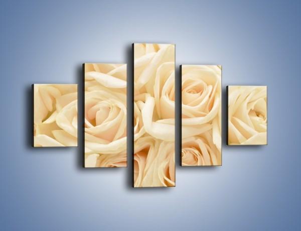 Obraz na płótnie – Bukiet herbacianych róż – pięcioczęściowy K710W1