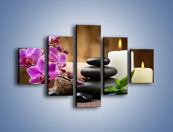 Obraz na płótnie – Kwiatowe masaże – pięcioczęściowy K716W1