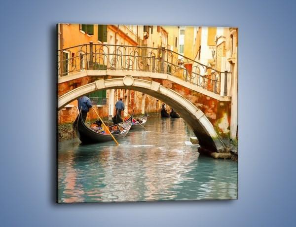 Obraz na płótnie – Weneckie gondole – jednoczęściowy kwadratowy AM172