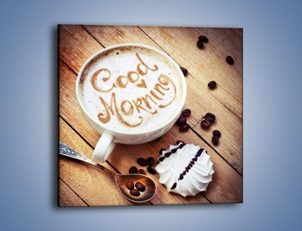 Obraz na płótnie – Kawa z bezą – jednoczęściowy kwadratowy JN605