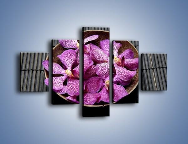 Obraz na płótnie – Półmisek kwiatowych główek – pięcioczęściowy K896W1