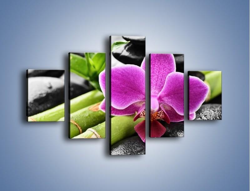 Obraz na płótnie – Idealnie ułożony kwiat – pięcioczęściowy K931W1