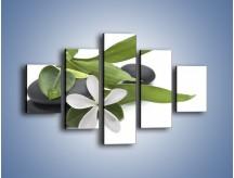 Obraz na płótnie – Artystyczna kompozycja z kwiatem – pięcioczęściowy K968W1