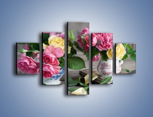 Obraz na płótnie – Róże ścięte nożycami – pięcioczęściowy K992W1